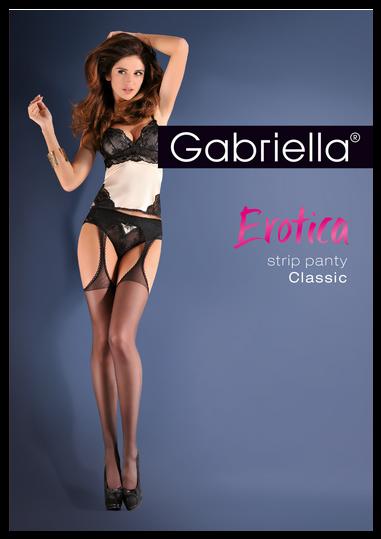 Bielizna-Rajstopy Strip Panty EROTICA STRIP PANTY CLASIC Czarne M/L