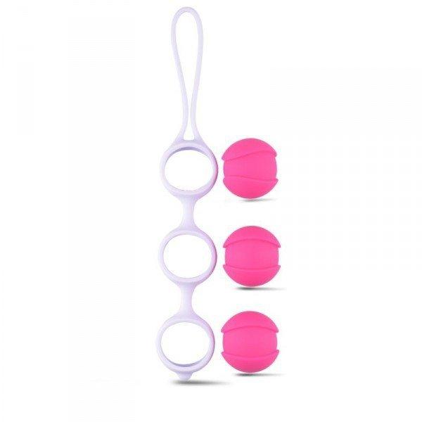 Kulki-Palline Vaginali Bi-Balls Triple White