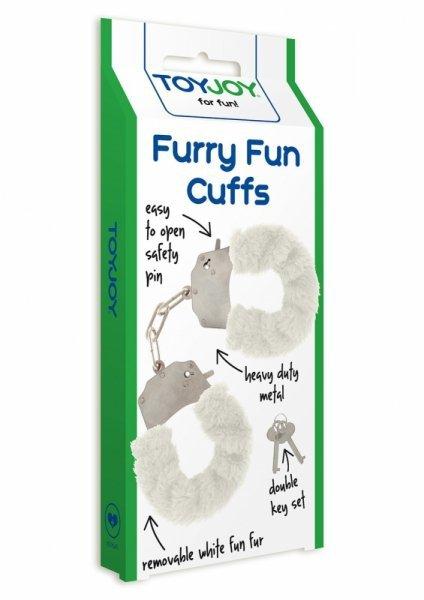 Kajdanki-FURRY FUN CUFFS WHITE PLUSH