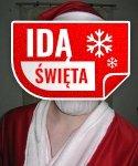 Maska lateksowa - Święty Mikołaj