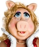 Maska lateksowa - Miss Piggy