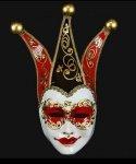 Maska wenecka - Re Black/Red