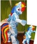 Strój reklamowy - Blue Pony