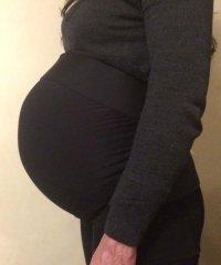 Sztuczny brzuch ciążowy - ACTIVE BLACK 6-7 miesiąc