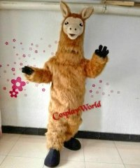 Chodząca żywa duża maskotka - Alpaka Deluxe