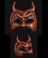 Maska wenecka - Diavolo Red