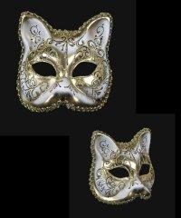 Maska wenecka - Gatto Aria Gold
