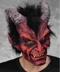 Maska lateksowa - Czerwony Lucyfer