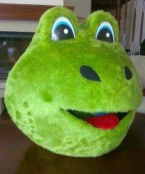 Głowa chodzącej maskotki - Żaba