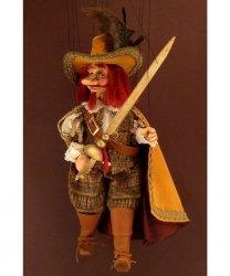 Marionetka wenecka - Cyrano de Bergerac (73 cm)