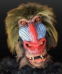 Maska lateksowa - Pawian