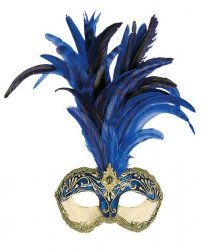 Maska wenecka - Colombina Strucco Piume III