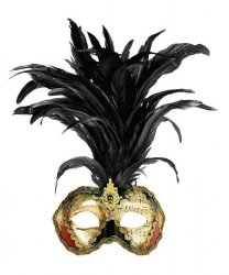Maska wenecka - Colombina Strucco Piume VII