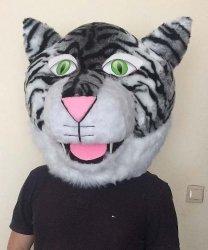 Głowa chodzącej maskotki - Tygrys Biały