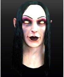 Maska lateksowa z włosami - Medium