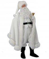 Profesjonalny strój Świętego Mikołaja - Św. Mikołaj Deluxe White Christmas