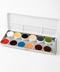 Paleta z farbami do charakteryzacji lateksu - Mix kolorów