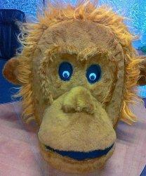 Głowa chodzącej maskotki - Małpa
