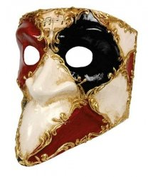 Maska wenecka - Bauta Sacchi Colore