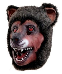 Maska lateksowa - Niedźwiedź