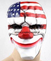 Maska lateksowa - Payday 2 Dallas Clown