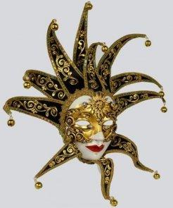 Maska wenecka - Volto Dama Velluto Reale Barocco Black