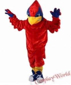 Chodząca żywa duża maskotka - Papuga Kibic