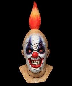 Maska lateksowa - Horror Klaun Ognik