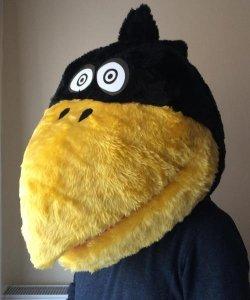Głowa chodzącej maskotki - Kruk