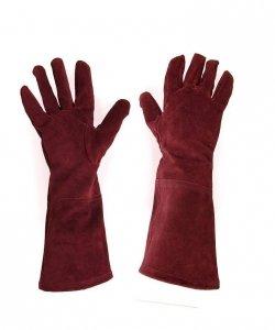 Rękawice - Zamsz Burgund
