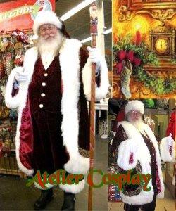 Profesjonalny strój Świętego Mikołaja - Św. Mikołaj Premium IV