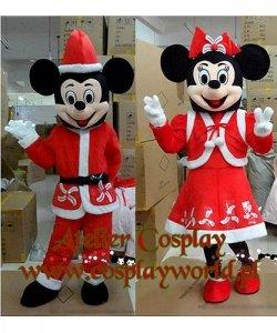 Chodzące maskotki - Świąteczna Para Myszek