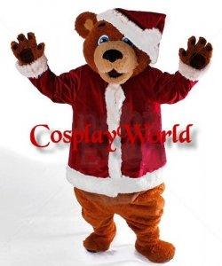 Strój chodzącej maskotki - Miś Święty Mikołaj