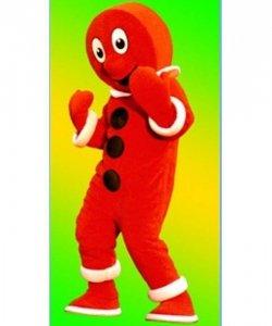 Strój chodzącej maskotki - Bożonarodzeniowy Ludek