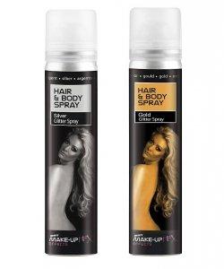 Farba brokatowa do włosów i ciała w sprayu - Multikolor 75 ml