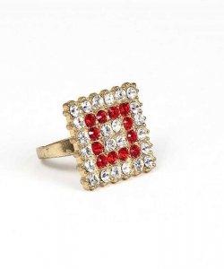 Pierścień - Święty Mikołaj Rubin