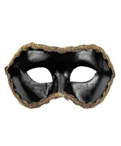 Maska wenecka - Colombina Nera