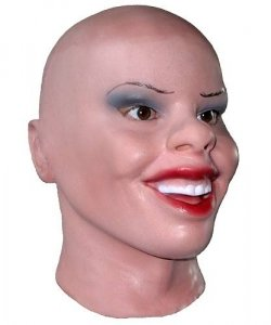 Maska lateksowa - Śmieszka