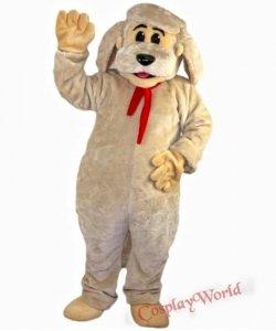 Strój chodzącej maskotki - Pies z kokardą