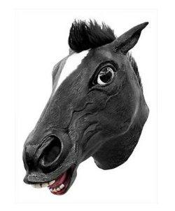 Maska lateksowa - Koń Deluxe