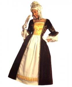 Strój teatralny - Szkarłatna suknia Markizy S-M