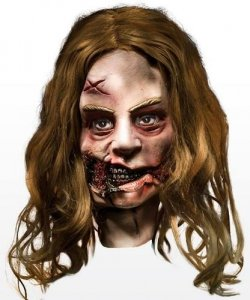 Maska lateksowa - The Walking Dead Zombie IV
