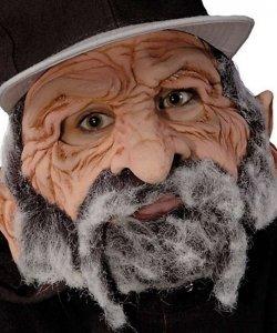 Maska lateksowa - Staruszek Uliczny Mądrala