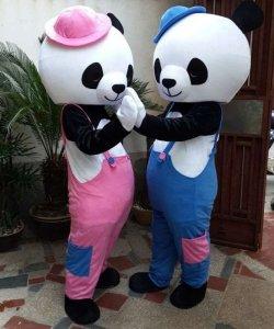 Stroje chodzących maskotek - Para Misiów Panda