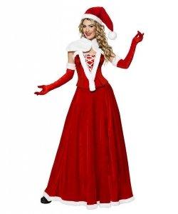 Profesjonalny kostium świąteczny - Miss Santa