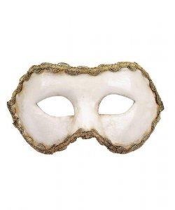 Maska wenecka - Colombina Blanca