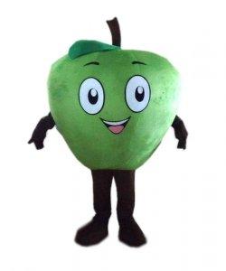 Strój chodzącej maskotki - Zielone Jabłuszko