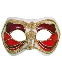 Maska wenecka - Colombina Monica Rosso