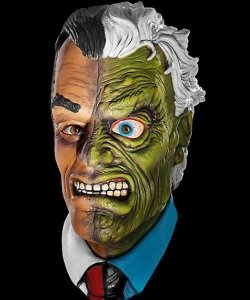 Maska lateksowa - BatmanTwo Face