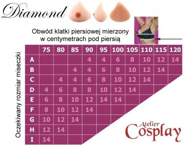 Piersi z z silikonu - Amoluxury Diamond 6